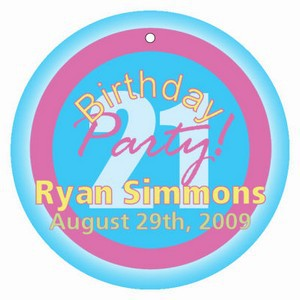 Party Birthday Hang Tags