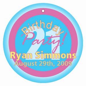 Party Birthday Hang Tags