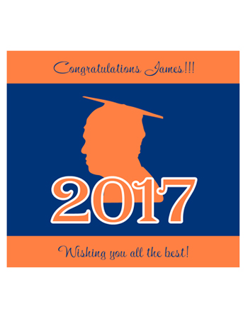 School Spirit Graduation Labels