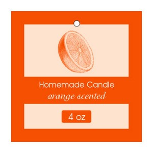 Orange Candle Hang Tag
