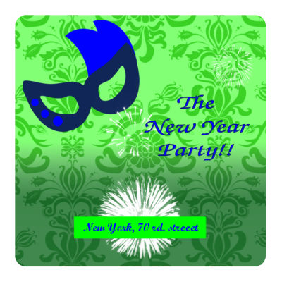 New Year Party Coasters