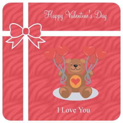 Present Valentine Coasters
