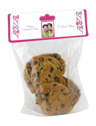 Hearts Photo Valentine Bag Toppers with bag