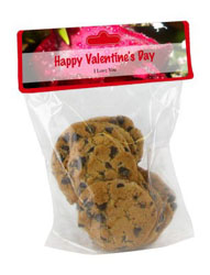 Photo Label Valentine Bag Toppers with bag