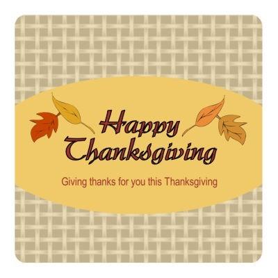 Leaves Thanksgiving Hang Tag