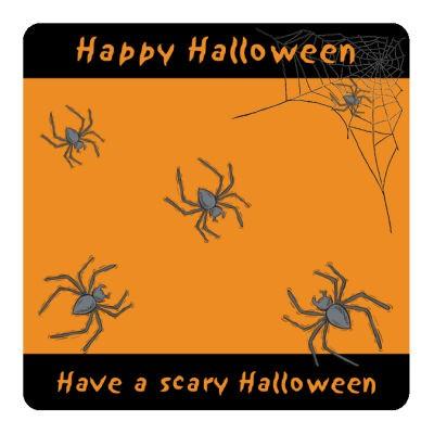 Spider Halloween Coasters
