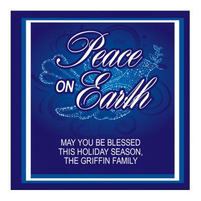 Peace Dove Christmas Labels