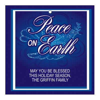 Peace Dove Christmas Hang Tags