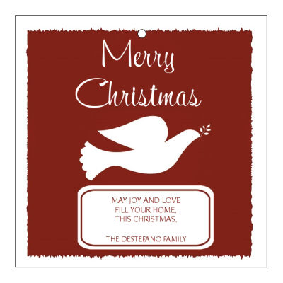 Red Dove Christmas Hang Tags