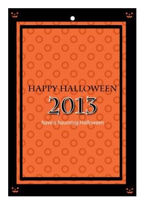 Jack O Lantern Halloween Hang Tags