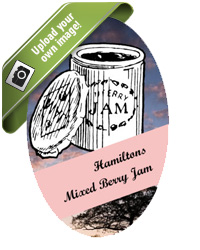 Jam jar food and craft labels