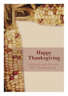 Just Corn Thanksgiving Labels