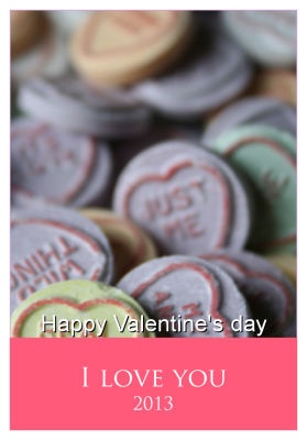 Just Photo with Text Valentine Labels