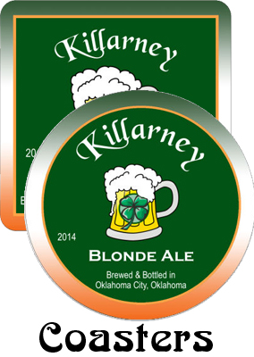Killarney Ale Saint Patrick's Day Coasters