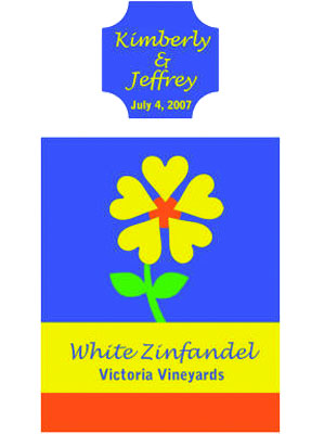 Love Flowers Wine Labels