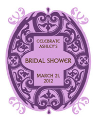 Mannerism Bridal Shower Labels