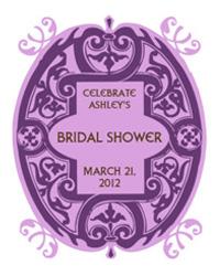 Mannerism Bridal Shower Labels
