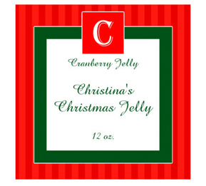 Merry Christmas Canning Labels