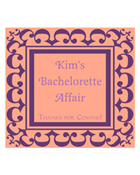 Monarch Bridal Shower Labels