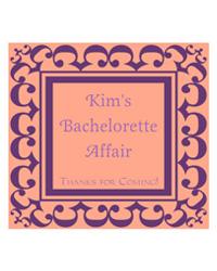 Monarch Bridal Shower Labels