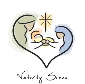 Christmas Nativity Business Holiday Cards