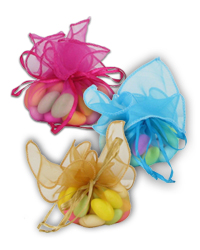 Organza Pull-String Favor Wraps