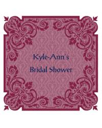 Ornament Bridal Shower Labels