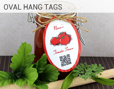 Oval Hang Tag