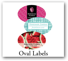 oval candle labels, Oval Stickers