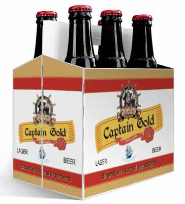 6 Pack Pirate Beer Carrier
