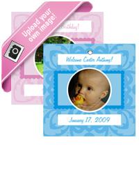 Powder pink Baby Hang Tag