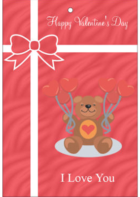 Present Valentine Hang Tag
