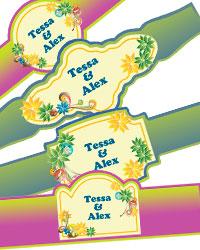 Rainbow Cigar Band Labels