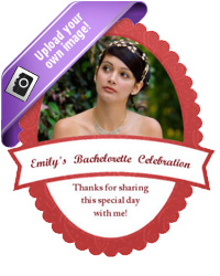 Ribbon Bridal Shower Labels