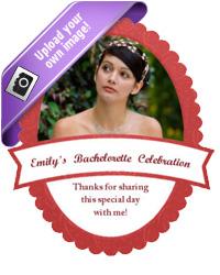 Ribbon Bridal Shower Labels