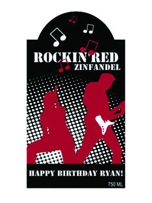 Rockout Wine Labels