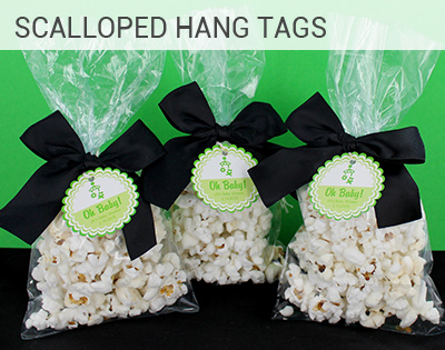 Scalloped Circle Hang Tags