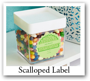 scalloped Labels, Personalized scalloped Stickers
