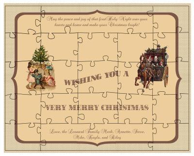 Sepia Christmas Puzzles
