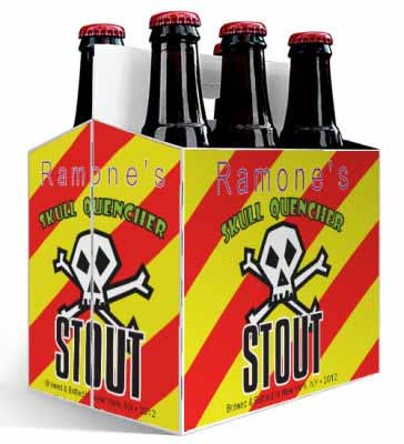 Skull 6 Pack Beer Carrier