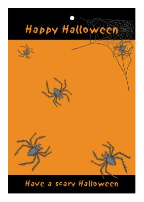 Spider Halloween Hang Tags