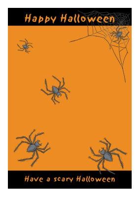 Spider Halloween Labels