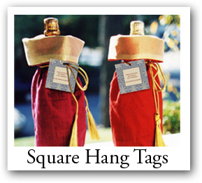 square hang tags