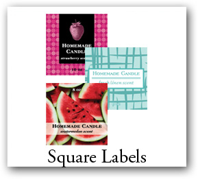 Square Candle Labels, Square Stickers for candle