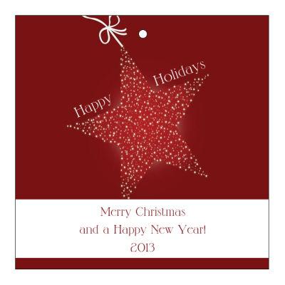 Star with String Christmas Hang Tags