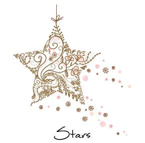 Christmas Shining Stars Business Holiday Cards