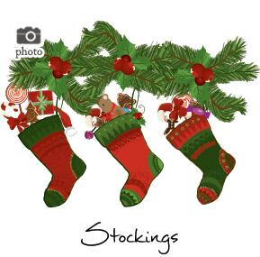 Christmas Stockings Family Cards