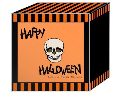Striped Border Halloween Boxes