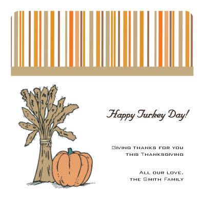 Stripes Thanksgiving Coasters