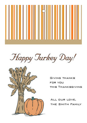 Stripes Thanksgiving Hang Tags
